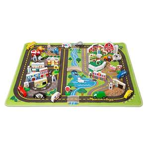Melissa & Doug Deluxe Activity Road Rug Play Set £28 delivered at Amazon