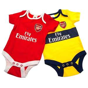 Official Arsenal Fc Twin Pack Baby Grows Size 0-3 Months £6 @ Yankee Bundles