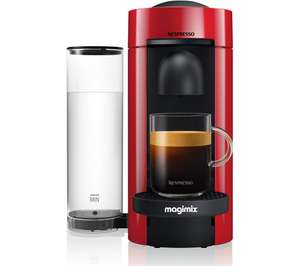 Nespresso vertuo coffee machine in red £59 + claim 100 coffee capsules @ Currys PC World