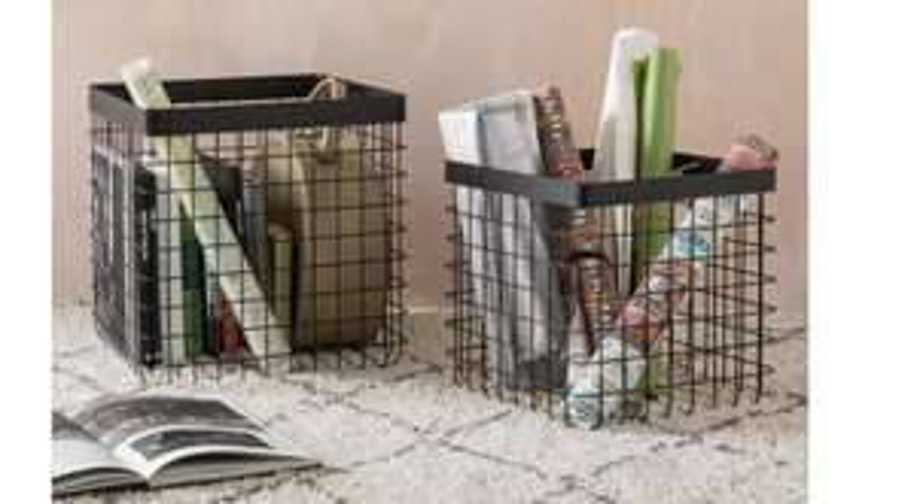 Set of 2 Argos Home Loft Living Wire Storage Baskets - £14.74 (+£3.95 delivery) @ Argos