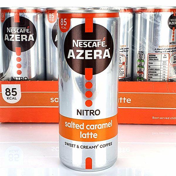 12 X Nescafe Azera Iced Coffee Salted Caramel Latte/double Shot/ice Latte 250ml £8.00 (Best before August 2021) @ Yankee Bundles