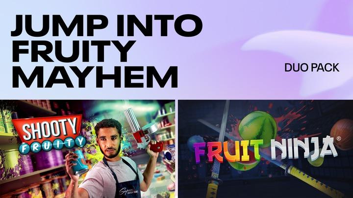 Jump into Fruity Mayhem Duo pack (Shooty Fruity and Fruit Ninja) £19.49 - Oculus