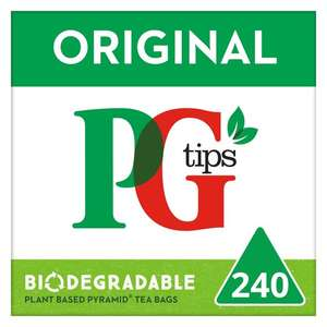 PG Tips 240 Pyramid Teabags 696G - £3.49 @ Tesco (+ Delivery Charge / Min Spend Applies)