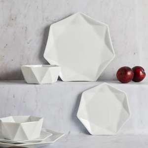 Elements White 12 Piece Quartz Dinner Set - £25 C&C @ Dunelm