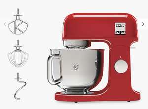 Kenwood Kmix KMX750 Stand Mixer with Steel Bowl Red or Cream £249 @ John Lewis