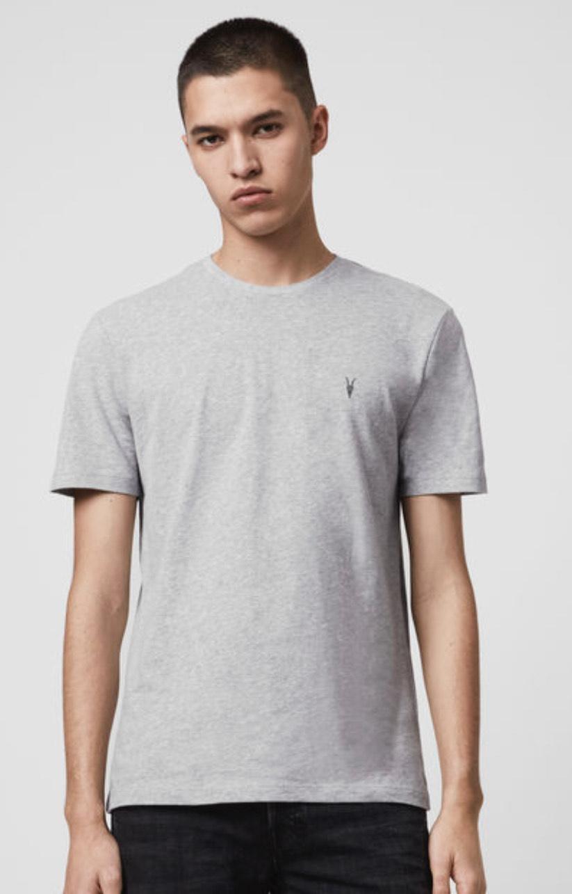 Brace Tonic Short Sleeve Crew T-shirt Grey Marl - £9 (£3.95 delivery) @ AllSaints