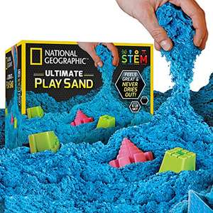 National Geographic Play Sand - 2700 Grams of Sand with Castle Moulds (Blue) £11.82 Sold by National Geographic Science Toys FBA