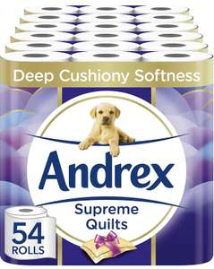 Andrex Supreme Quilts 54 Rolls, £23.63 @ Amazon