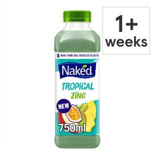Naked Tropical Zing Smoothie 750Ml £1.64 (Clubcard price) (+ Delivery Charge / Minimum Spend Applies) @ Tesco