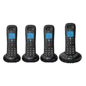 BT 3570-QUAD 4 Handset Cordless Phone with Answerphone £51.99 with code @ Hughes Direct Ebay