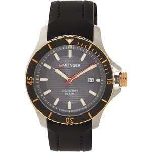 Wenger Black Seaforce Analogue Watch £79.99 delivered at TK Maxx