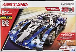 Meccano 6044495 - by Erector – 25-Model Supercar S.T.E.A.M. Building Kit with LED Lights, for Ages 10 and Up £20 @ Amazon