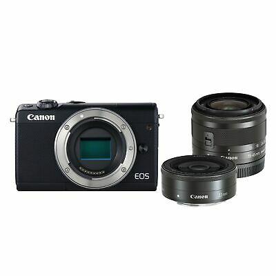 Canon EOS M100 Mirrorless Camera with 15-45mm & 22mm Lenses - £299.99 @ Argos - Ebay