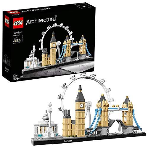 LEGO Architecture 21034 London Skyline Model Building Set, London Eye, Big Ben, Tower Bridge Collection £37.92 at Amazon