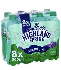 Highland Spring Sparkling Water, 8 x 500ml - £2 (+£4.49 Non-Prime) @ Amazon