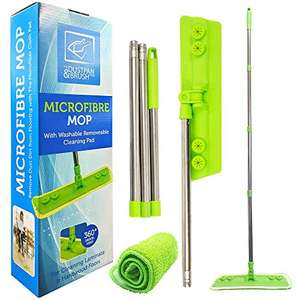 Microfibre Mop with Washable Removable Cleaning Pad £8.83 delivered The Dustpan and Brush Store Amazon