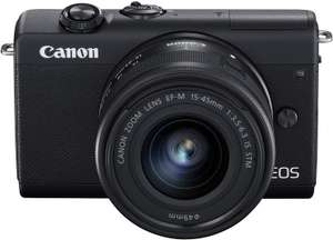 Canon EOS M200 Mirrorless Camera with EF-M 15-45mm Lens (Black ) - £399.99 at Amazon