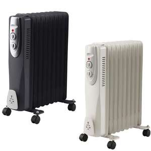 GlowmasterUK 9 Fin 2000W / 2kw Oil Filled Radiator - Black or White - £28 Delivered @ WeeklyDeals4Less