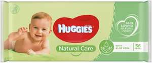 Huggies Natural Care Baby Wipes, 56 Wipes 79p (+£4.49 p&p non prime/ 75p via s&s) @ Amazon