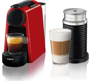 NESPRESSO by Magimix Essenza Mini Coffee Machine with Aeroccino 3 - Ruby Red £119 at Currys PC World