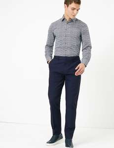 Slim Fit Textured Stretch Chinos now £12.95 + £3.50 Delivery @ Marks and Spencer