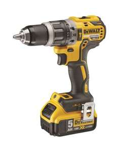 DeWalt 18V XR Brushless Compact Combi Drill + 5 ah + charger + case - DCD796P1-GB - £148.79 (delivered) at City plumbing