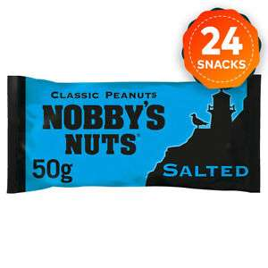24 x Nobby's Nuts Classic Salted Peanuts Snack Bar 50g in Pub Card £10.23 at ebay walkers_crisps_official_store