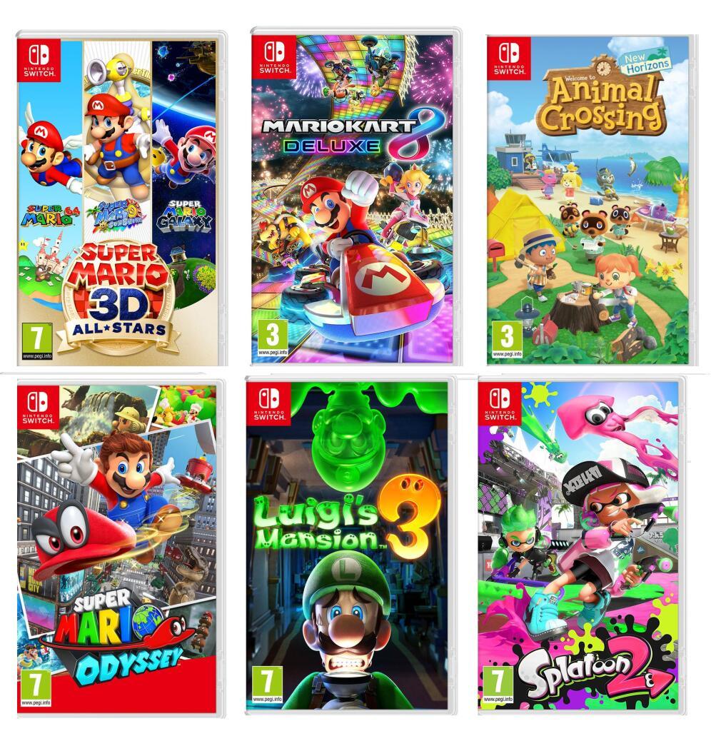 Nintendo Switch: Super Mario 3D All-Stars/Super Mario Odyssey/Mario Kart 8 Deluxe/Animal Crossing/Luigi's Mansion 3 - £31.99 W/Code @ Currys
