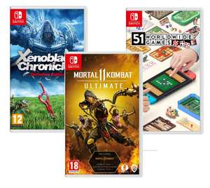 NINTENDO SWITCH Xenoblade Chronicles: Definitive Edition £24.97/Worldwide Games - £22.99/Mortal Kombat 11 Ultimate £24.99 With Code @ Currys