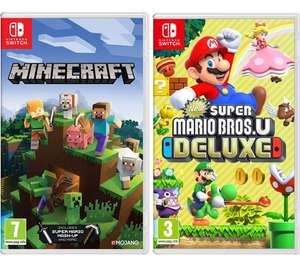 Minecraft + New Super Mario Bros. U Deluxe or Mario Kart 8 - £49.99 delivered with code @ Currys PC World