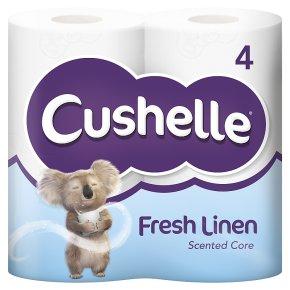 Cushelle Fresh Linen Toilet Rolls 4s - £1.45 (+ Delivery Charge / Minimum Spend Applies) @ Waitrose & Partners