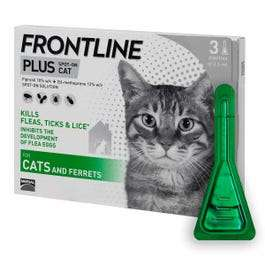 12 x Frontline PLUS Spot On Cat Flea Treatment - £35.10 Delivered @ Pet Drugs Online