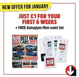 6 copies of Auto Express Magazine and Autoglym Mini-valet Set for £1 delivered @ Magazine Subscriptions (Three PM Ltd)