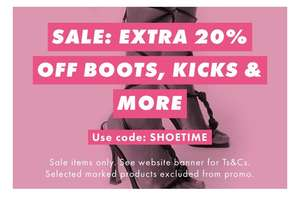 20% off sale shoes @ ASOS ( selected items excluded)