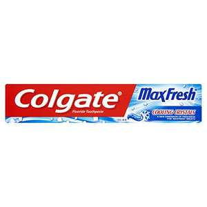 Colgate Max Fresh Cooling Crystals Fluoride Toothpaste, 75 ml, £1.00 (+£4.49 Non Prime) @ Amazon