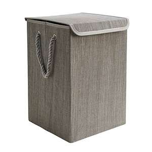 Collapsible Grey Laundry Basket Now £7 + £3.95 Delivery From Dunelm