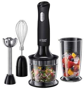 Russell Hobbs 24702 Desire 3 in 1 Hand Blender with Electric Whisk and Vegetable Chopper Attachments, Matte Black now £25 @ Amazon