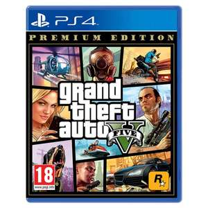 GTA V Premium Edition with $1,250,000 online currency (PS4) - £15.99 @ Smyths Toys