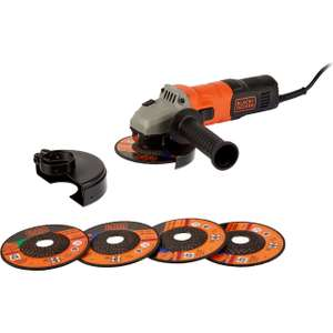 Black + Decker BEG010A5-GB Angle Grinder + 2 year warranty - £26 delivered @ AO