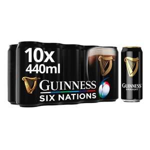 Guinness Draught Cans 10 x 440ml - £9 (Minimum Basket / Delivery Charge Applies) @ Morrisons