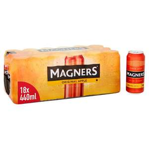 Magners Original Cider Cans 18 x 440ml £10 (Minimum Basket / Delivery Charge Applies) @ Morrisons