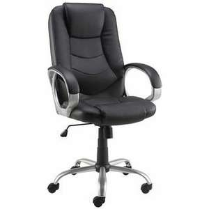 Staples Darcy Bonded Leather Executive Office Chair Black - £69.91 Delivered with code @ Staples