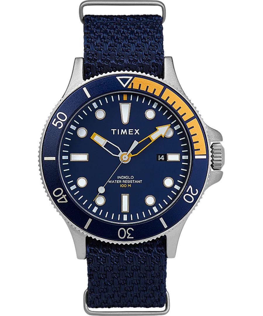 Timex Allied Coastline 43mm Fabric Strap Silver-Tone/Blue TW2T30400D7PF £49.99 @ Timex