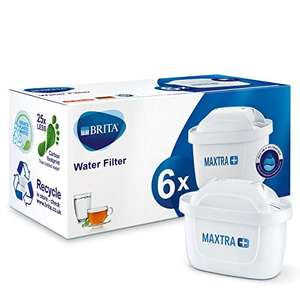 Brita Maxtra+ Water Filter Cartridges 6 pack (Compatible with all Brita jugs for chlorine and limescale reduction) £20 at Amazon