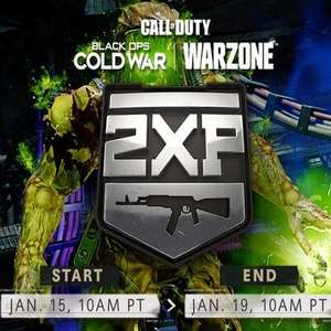Call of Duty Black OPS Cold War - double weapon XP in Black Ops Cold War and Warzone
