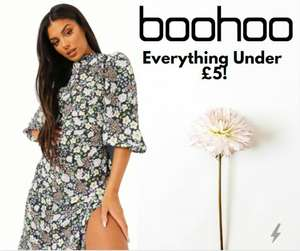 Everything Under £5 - Prices From 20p - Delivery £3.99 @ Boohoo
