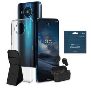 Nokia 8.3 5G Android Smartphone + wireless buds, case, stand + HMD SIM with 1GB data £349.95 delivered at QVC + cashback