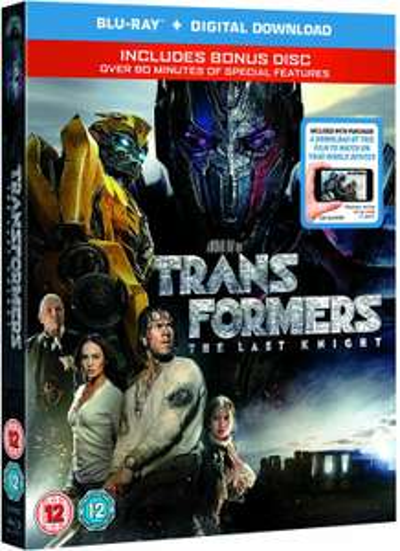 Transformers: The Last Knight (BD+ Bonus disc BD) [Blu-ray] [2017] [Region Free] £4.03 (£2.99 p&p non prime) @ Amazon