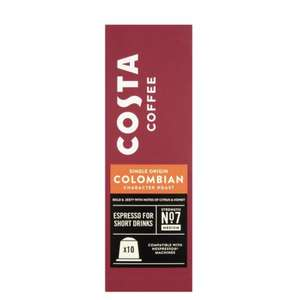 Costa coffee nespresso pod - £2 (Minimum Basket / Delivery Fee applies) @ Tesco