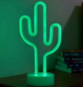 Smart 12 Inch Neon Cactus Light (AA Battery or USB cable) - £4.74 Delivered @ Charlies